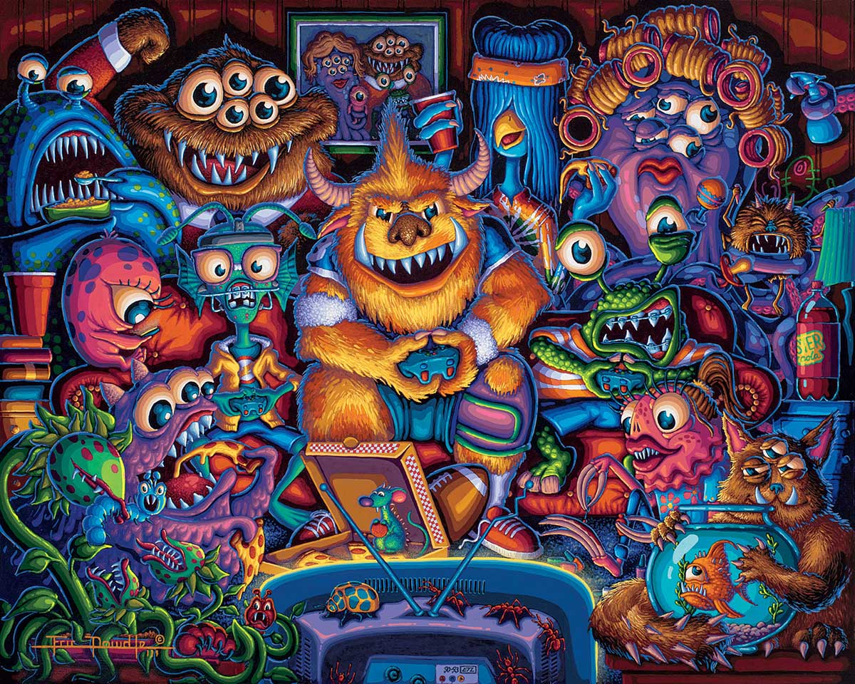 Gaming Monsters Fantasy Jigsaw Puzzle