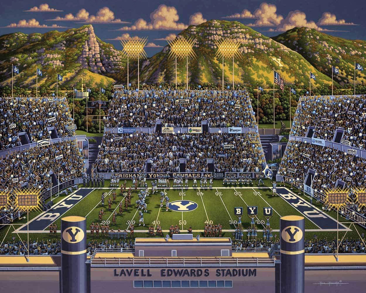 BYU Cougars Football Jigsaw Puzzle