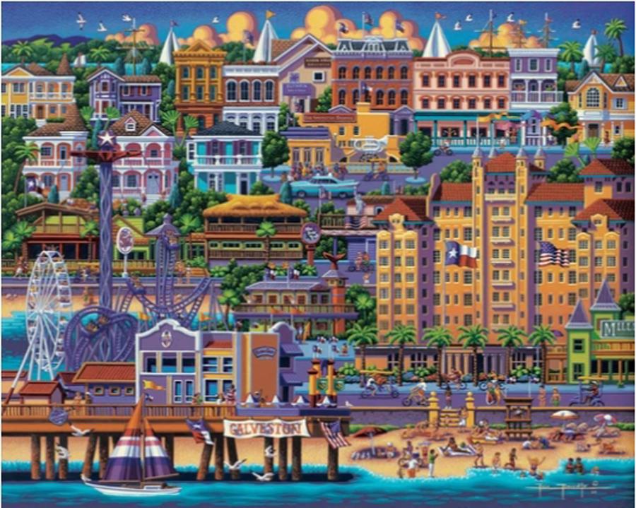 Galveston Cities Jigsaw Puzzle