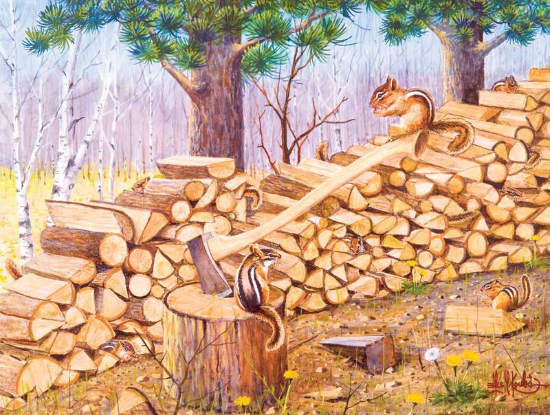 The Chipmunk Hotel Jigsaw Puzzle