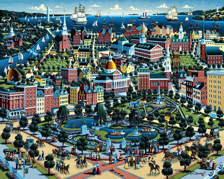 Boston Common Boston Jigsaw Puzzle