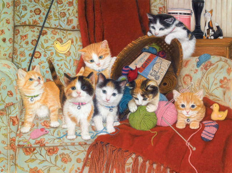 Knitting For Cats Jigsaw Puzzle Puzzlewarehouse Com
