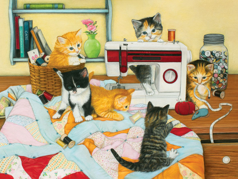 Quilting for Kittens Cats Jigsaw Puzzle