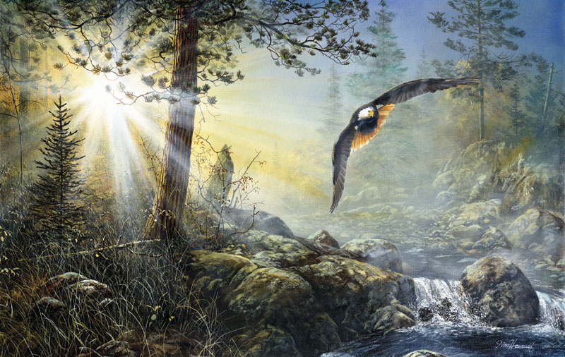 Wings in the Mist Eagles Jigsaw Puzzle