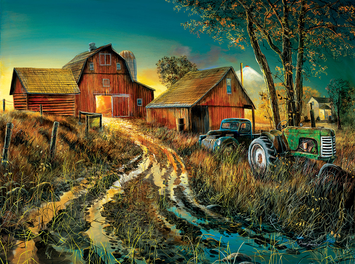 Diamonds in the Rough Countryside Jigsaw Puzzle