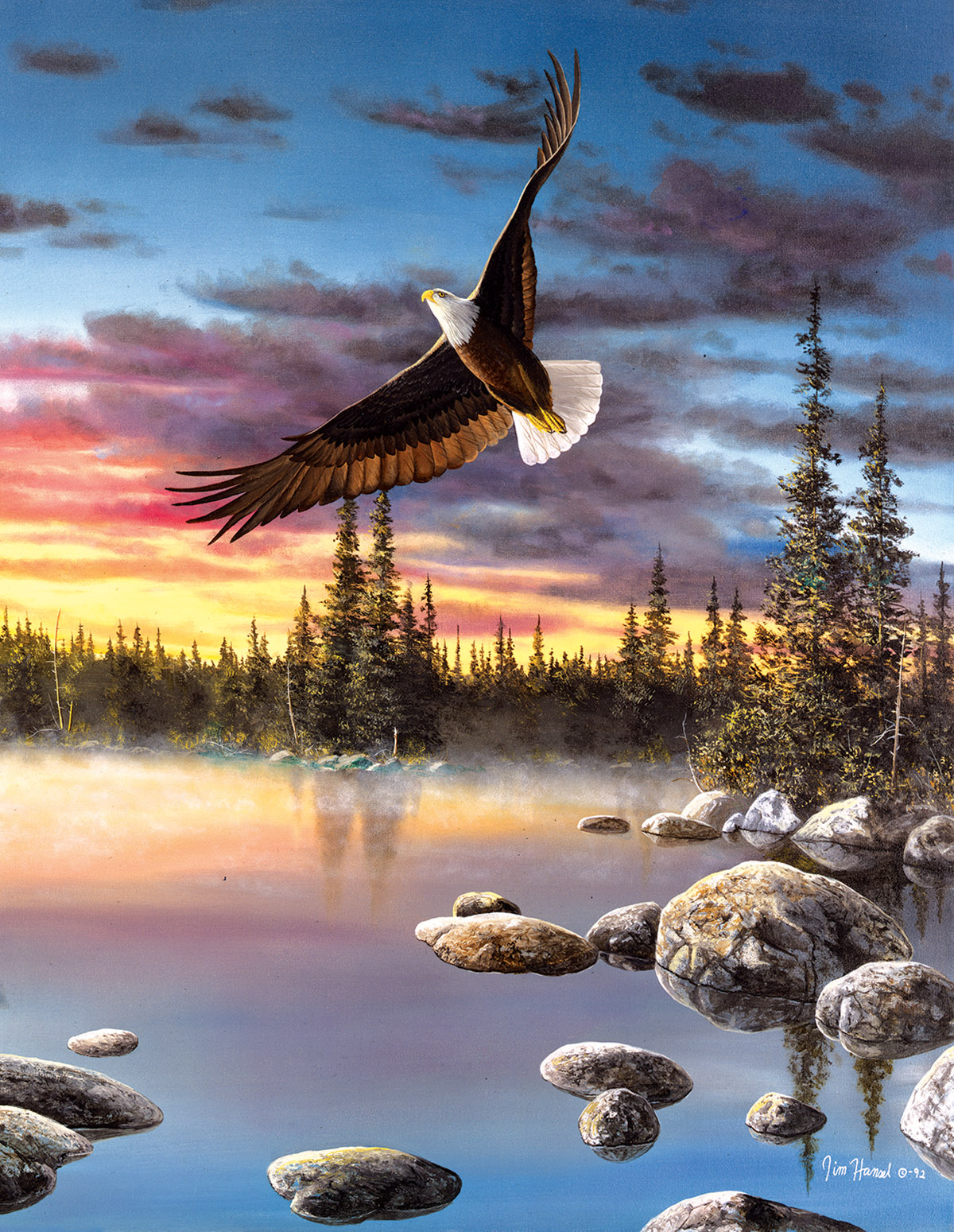 Sky Dancer Eagles Jigsaw Puzzle