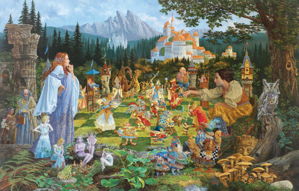 The Chess Match Fantasy Jigsaw Puzzle