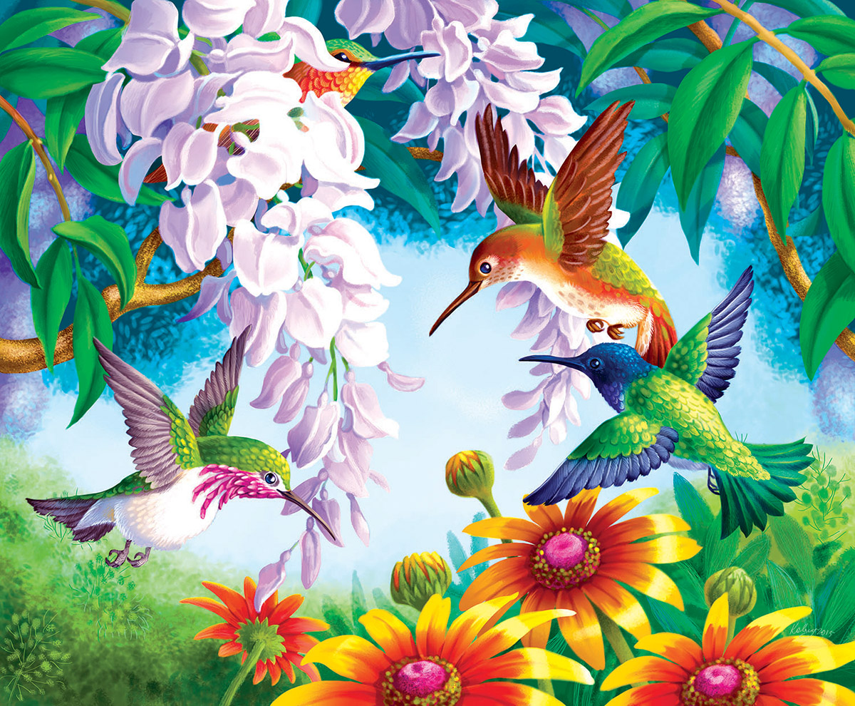 Hummingbird Fly By - Scratch and Dent Birds Jigsaw Puzzle