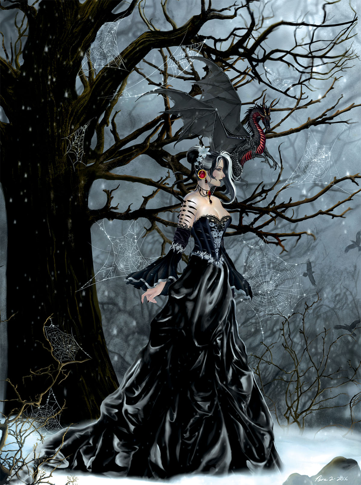 Queen of Shadows Gothic Jigsaw Puzzle
