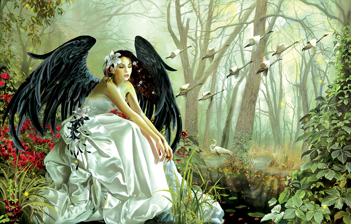 Swan Song Gothic Jigsaw Puzzle