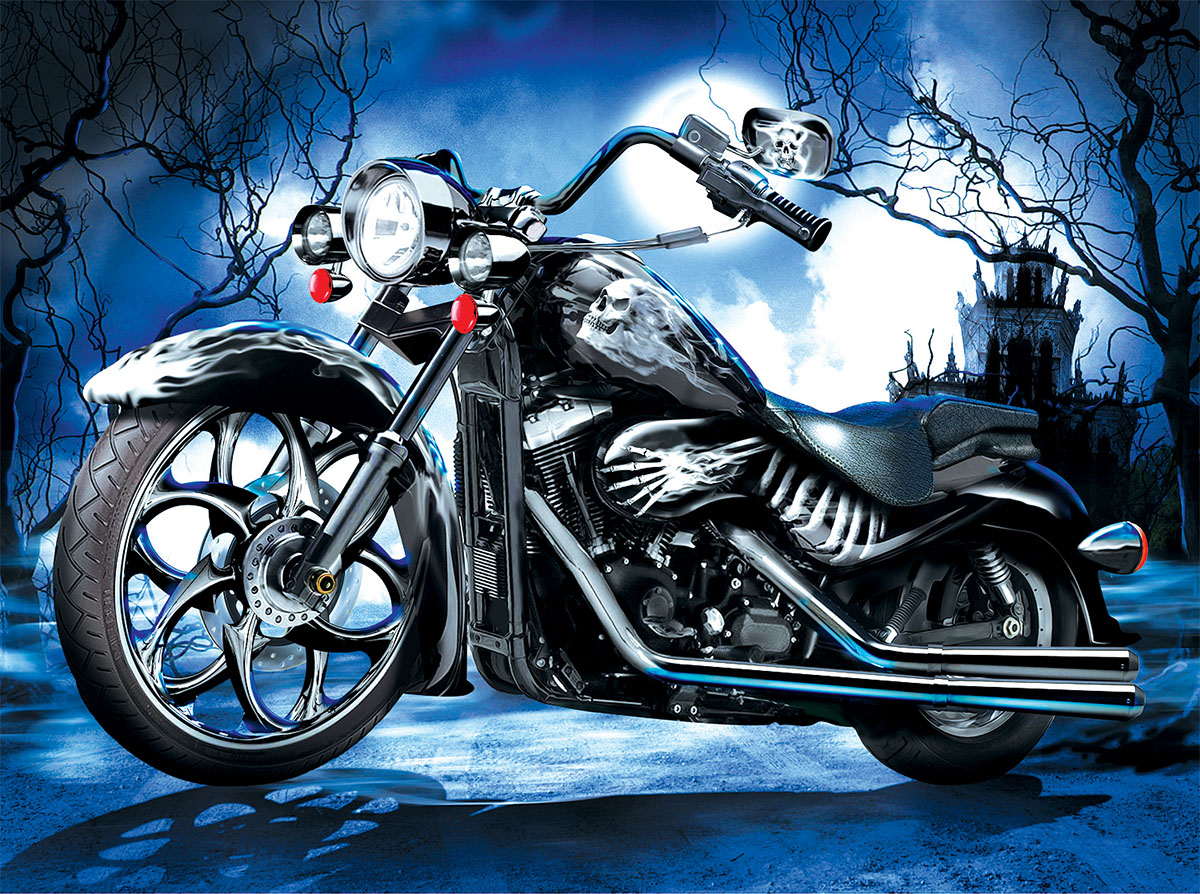 Skeleton Ride Halloween Jigsaw Puzzle