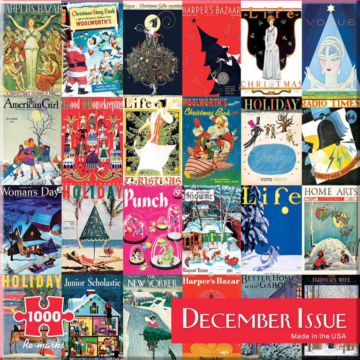 December Issue - Scratch and Dent Magazines and Newspapers Jigsaw Puzzle