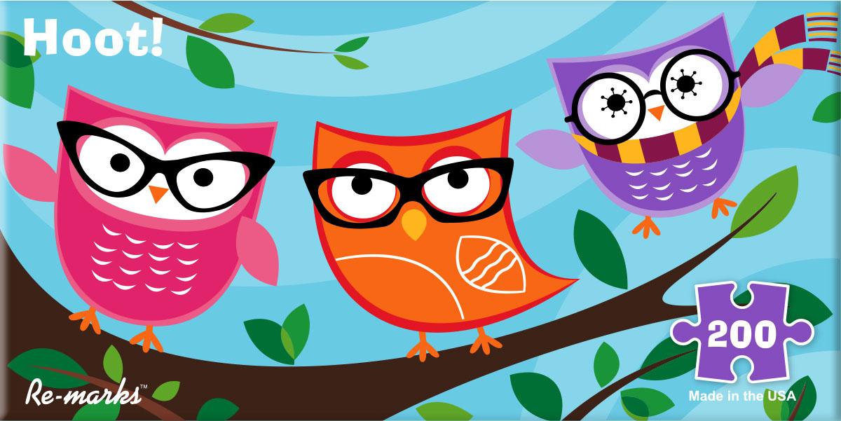 Owl Pano Birds Jigsaw Puzzle