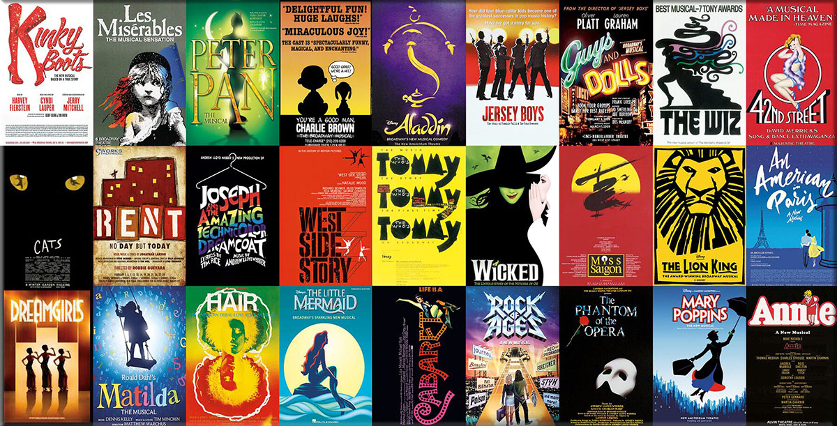 Broadway Musicals Collage Jigsaw Puzzle