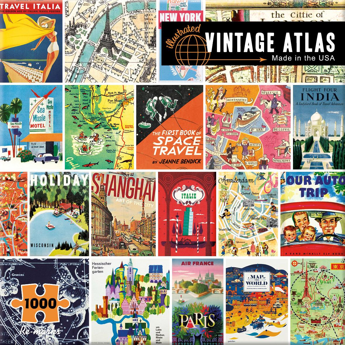 Vintage Atlas Nostalgic / Retro Jigsaw Puzzle