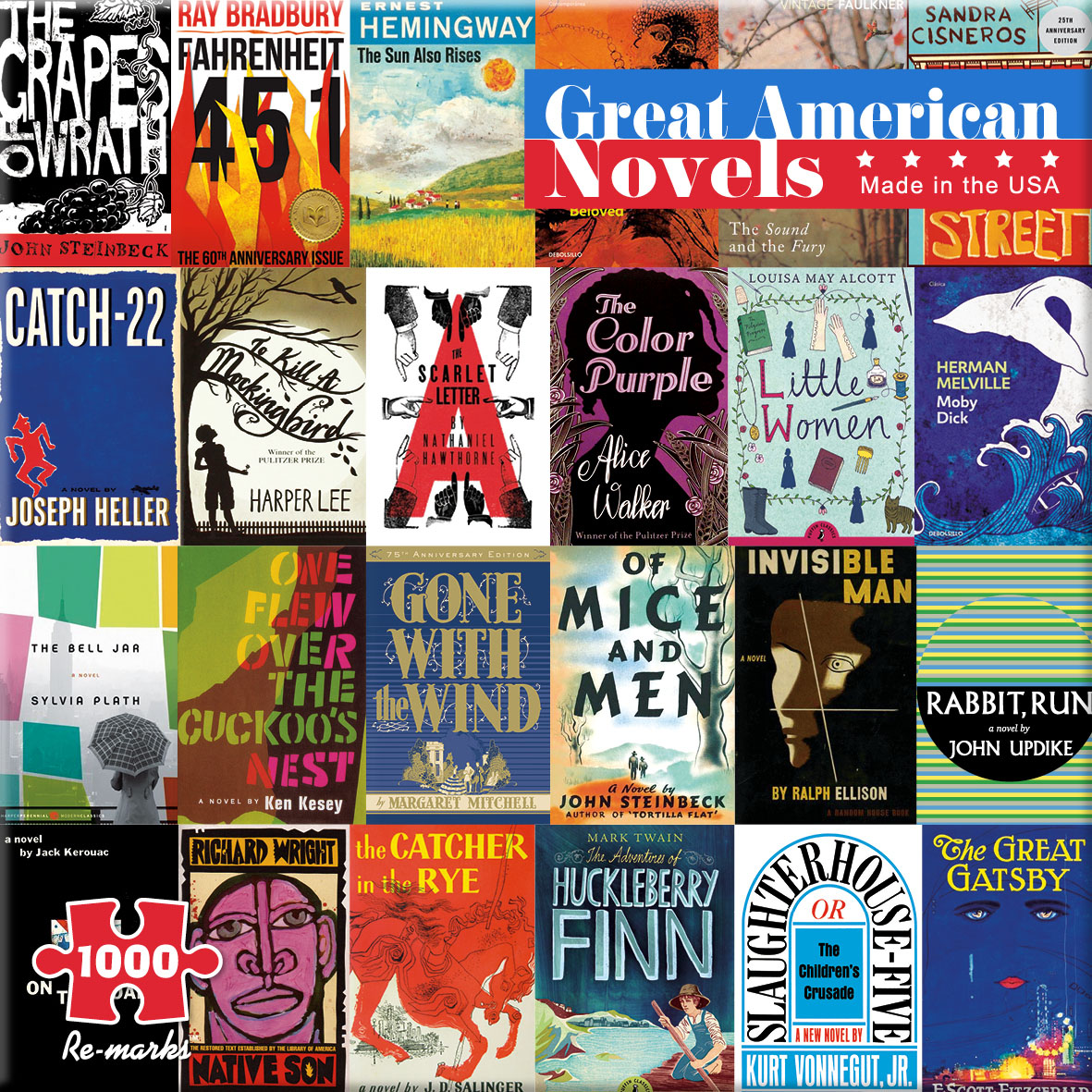 Great American Novels Movies / Books / TV Jigsaw Puzzle