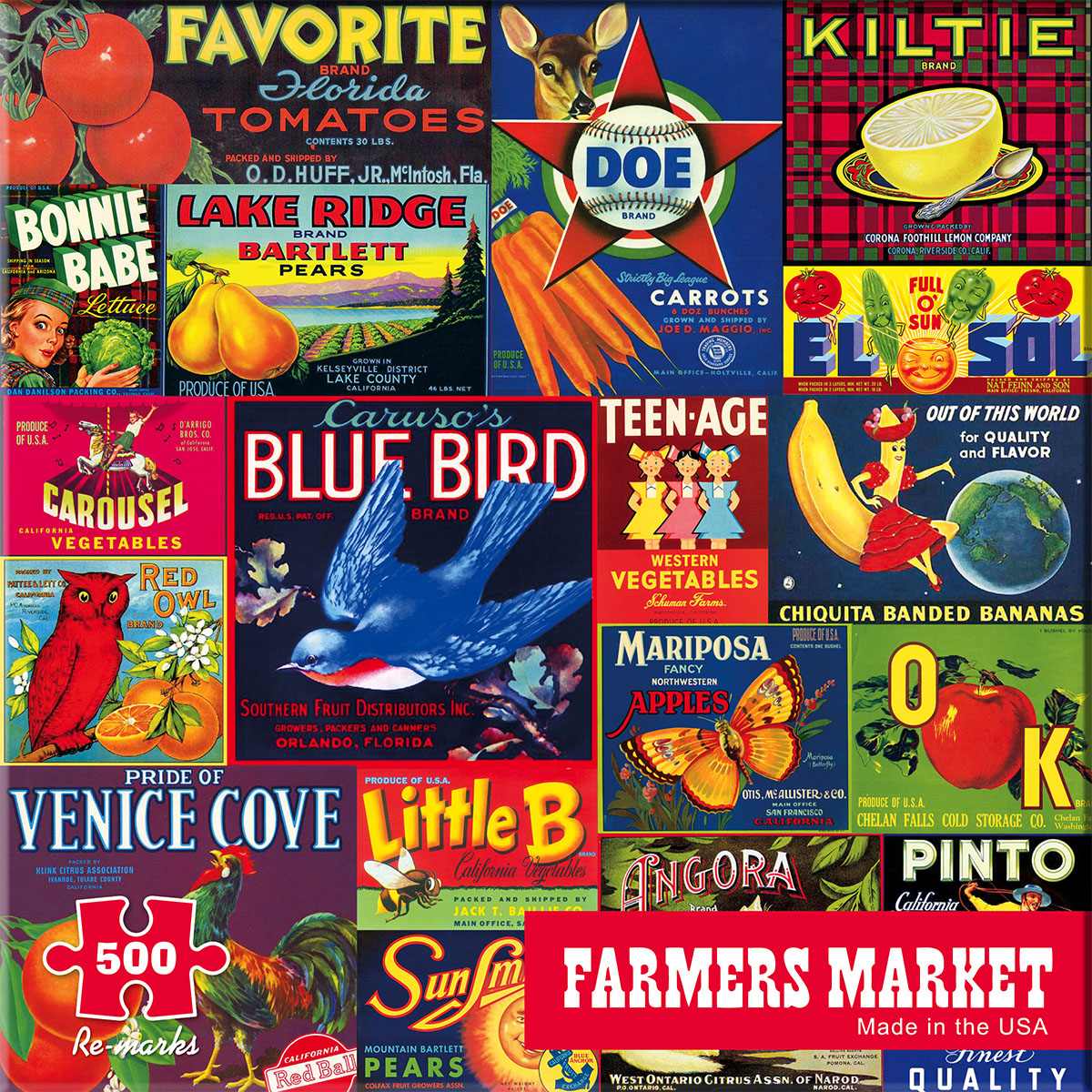 Farmers Market Collage Jigsaw Puzzle