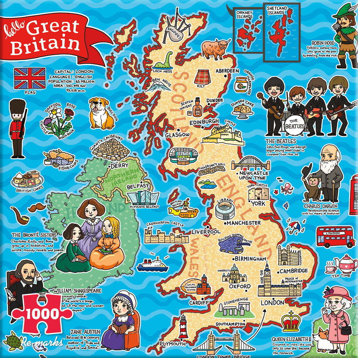 Great Britain Maps / Geography Jigsaw Puzzle