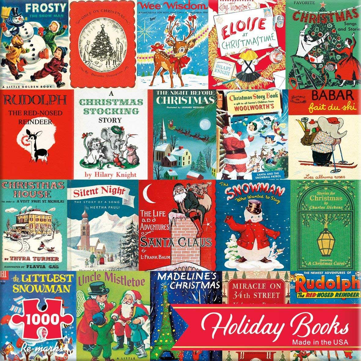 Holiday Books Christmas Jigsaw Puzzle