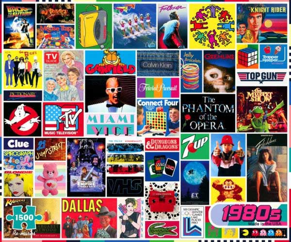 The 1980s Movies / Books / TV Jigsaw Puzzle