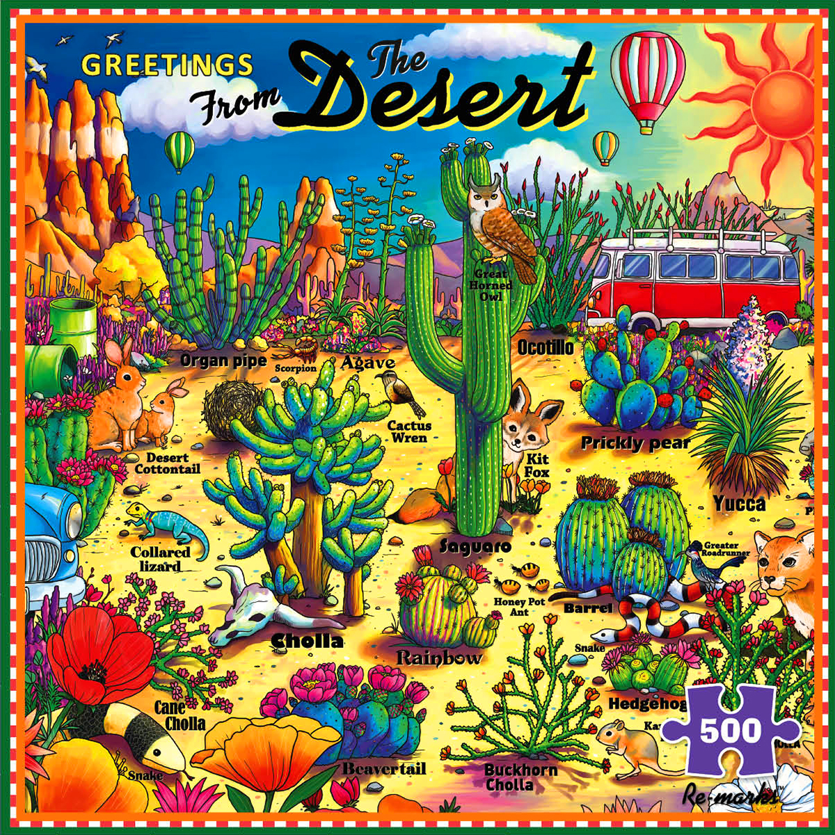 Greetings from the Desert Travel Jigsaw Puzzle