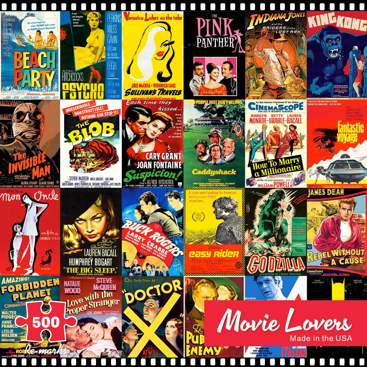 Movie Lovers Movies / Books / TV Jigsaw Puzzle
