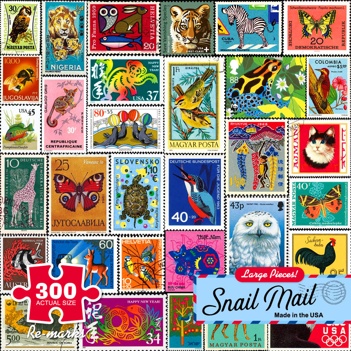 Snail Mail Animals Jigsaw Puzzle