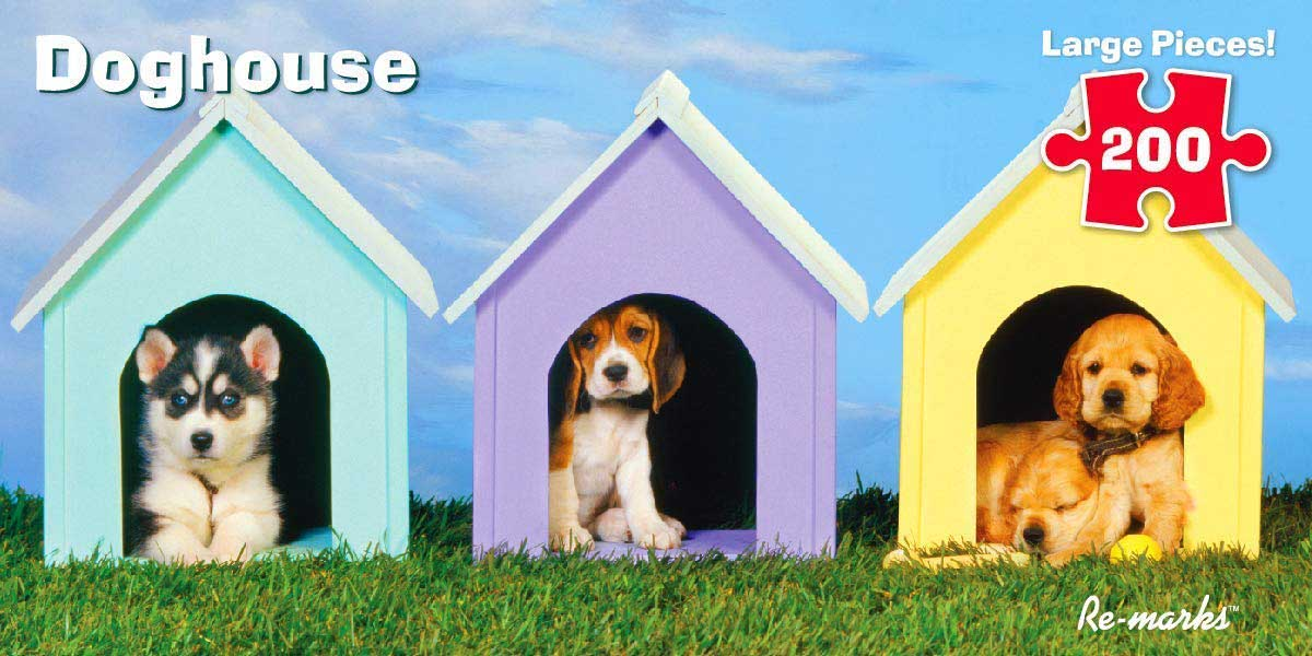 Doghouse Dogs Jigsaw Puzzle