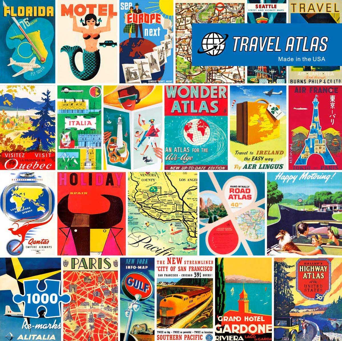 Travel Atlas Travel Jigsaw Puzzle