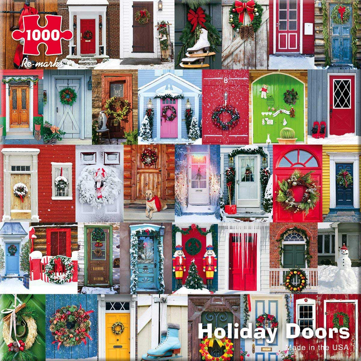 Holiday Doors Christmas Jigsaw Puzzle
