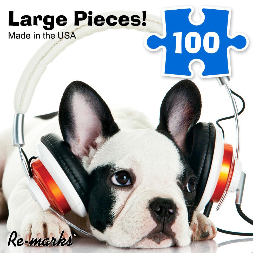Headphones Dogs Jigsaw Puzzle