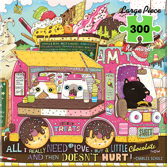 Ice Cream Truck Cats Jigsaw Puzzle