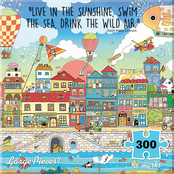 Harbor City Cats Jigsaw Puzzle