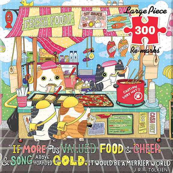 Street Food Cats Jigsaw Puzzle