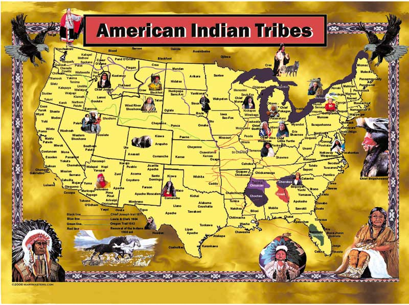 American Indian Tribes Native American Jigsaw Puzzle