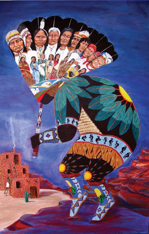 KoKopeli Native American Jigsaw Puzzle