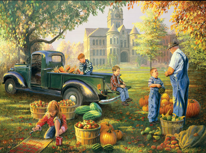 Little Farmers Market Fall Jigsaw Puzzle
