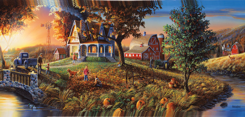 Autumn's Golden Moments Countryside Jigsaw Puzzle