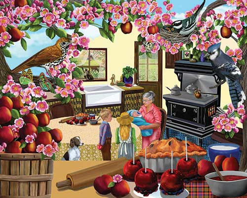 Granny's Apples Food and Drink Jigsaw Puzzle