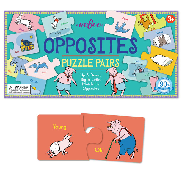 RV Opposites Puzzle Pairs Alphabet/Numbers Jigsaw Puzzle