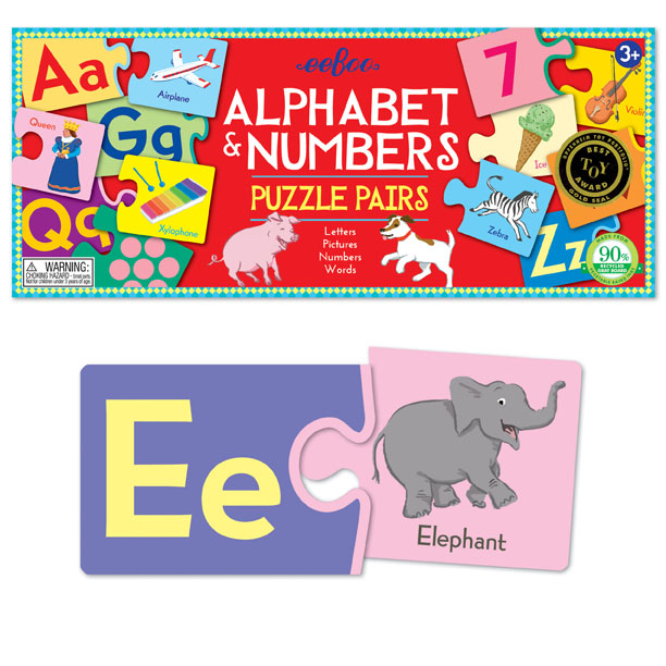 RV Alphabet & Numbers Puzzle Pairs Alphabet/Numbers Jigsaw Puzzle
