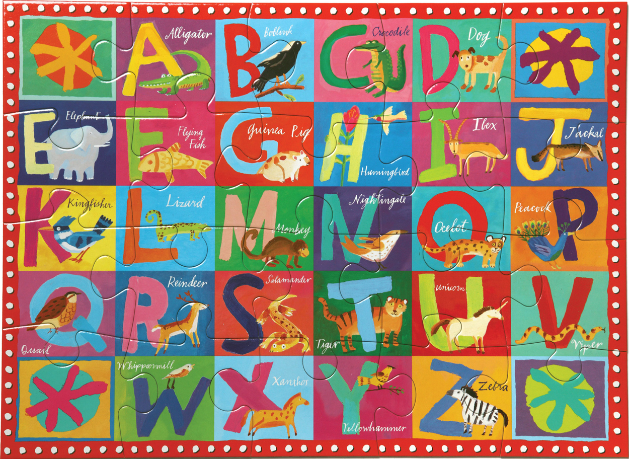 Animal Alphabet Educational Jigsaw Puzzle