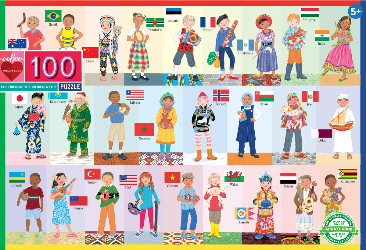 Children of the World Travel Jigsaw Puzzle