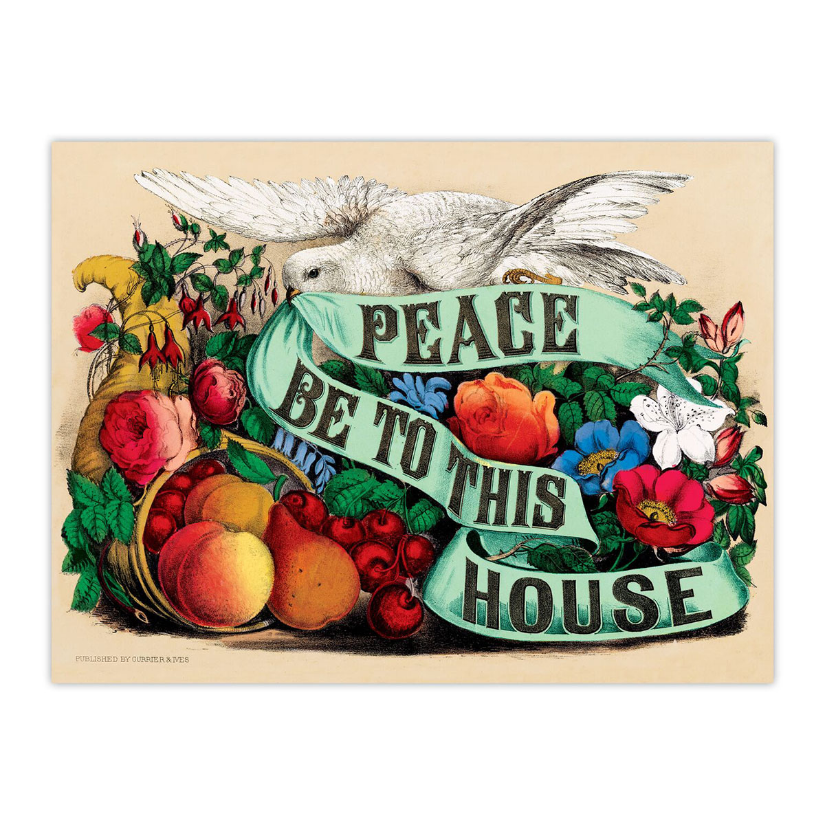 Peace Be to This House Inspirational Glitter / Shimmer / Foil Puzzles