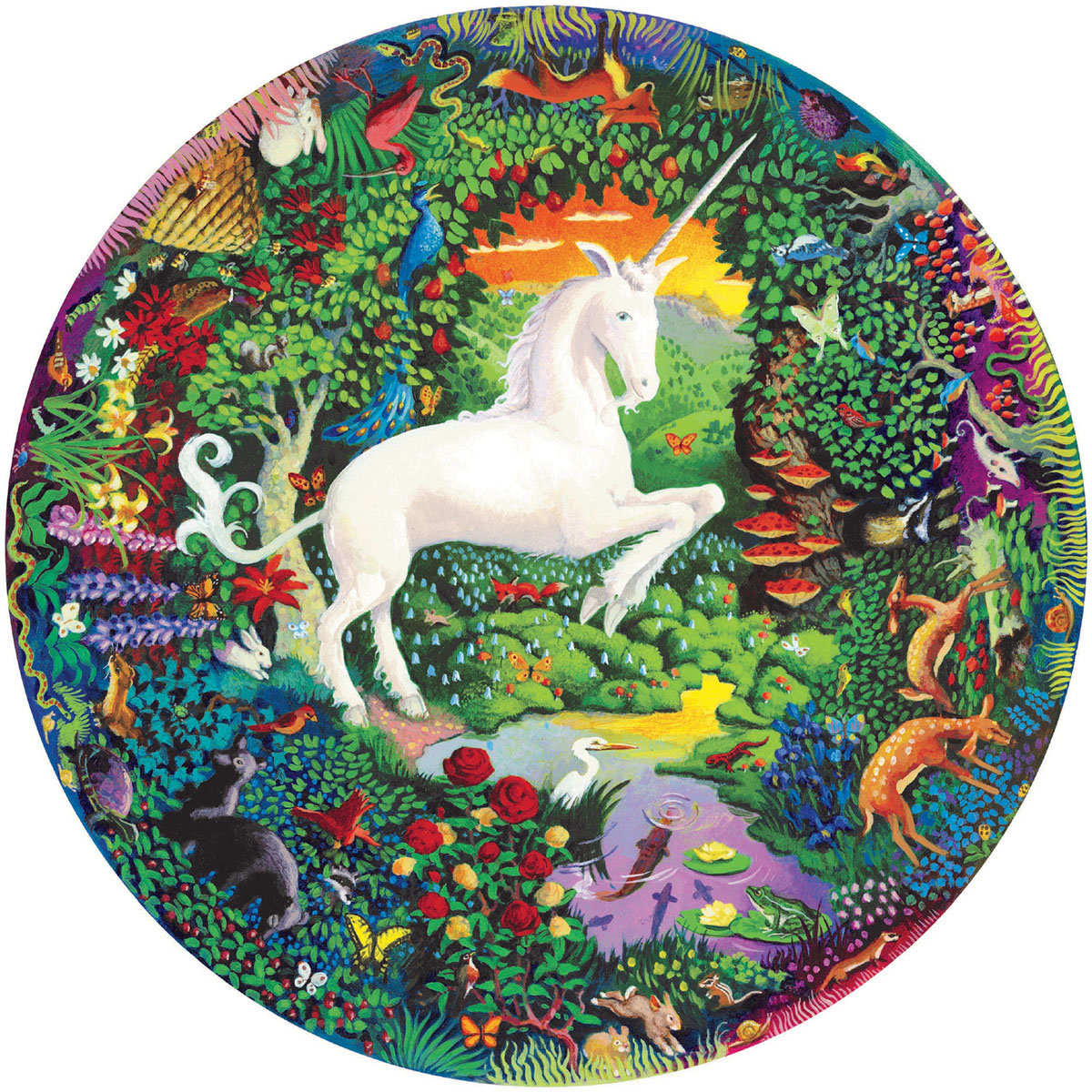 Unicorn Garden Unicorns Jigsaw Puzzle