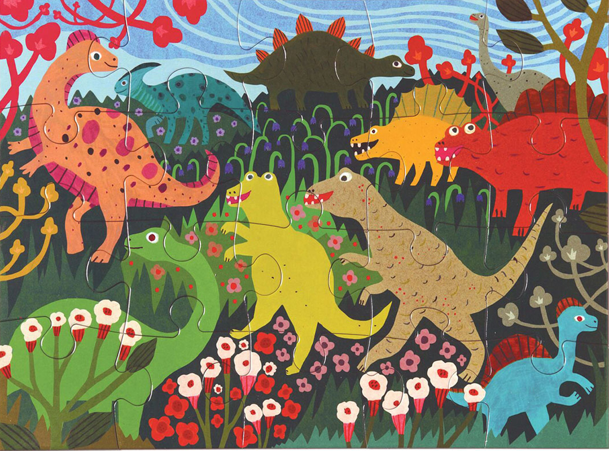 Dinosaur Meadow Dinosaurs Jigsaw Puzzle