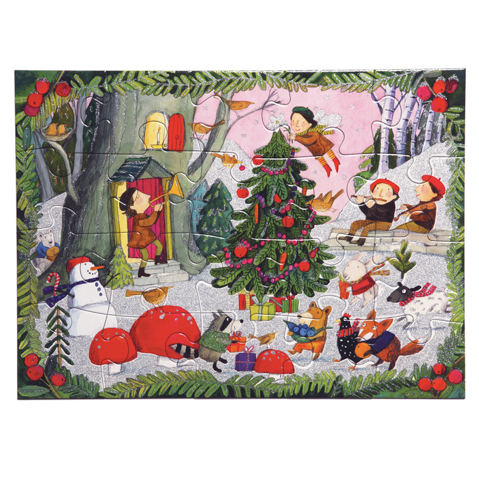 Christmas in the Woods Christmas Glitter / Shimmer / Foil Puzzles