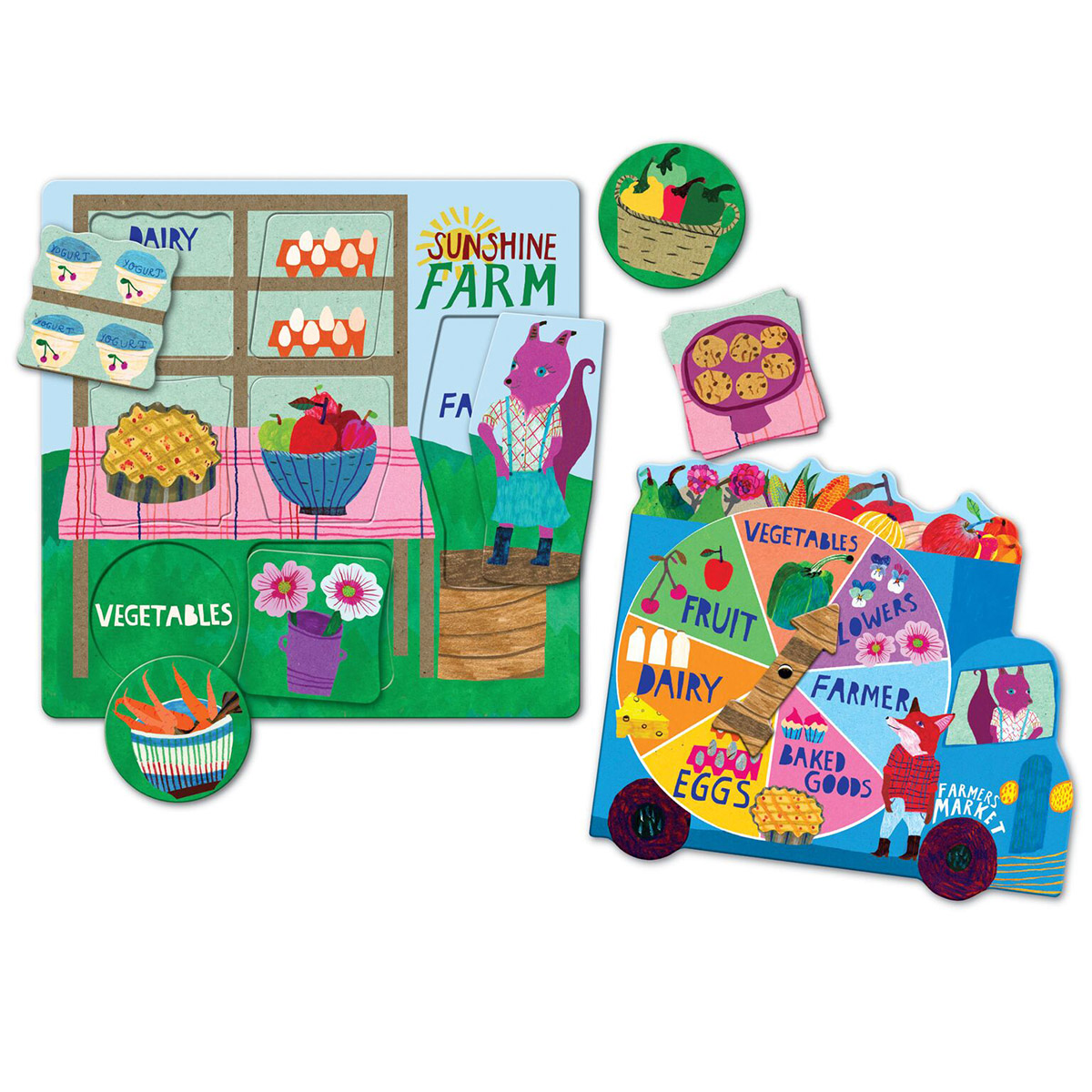 Green Market Puzzle Spinner Game - Scratch and Dent