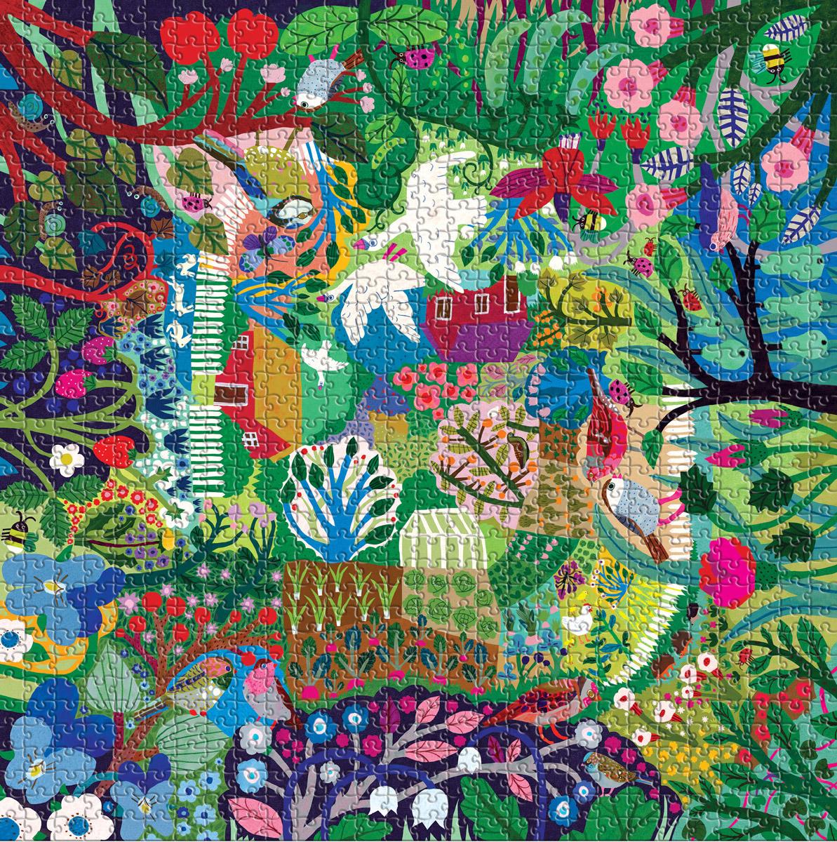 Bountiful Garden Flowers Jigsaw Puzzle