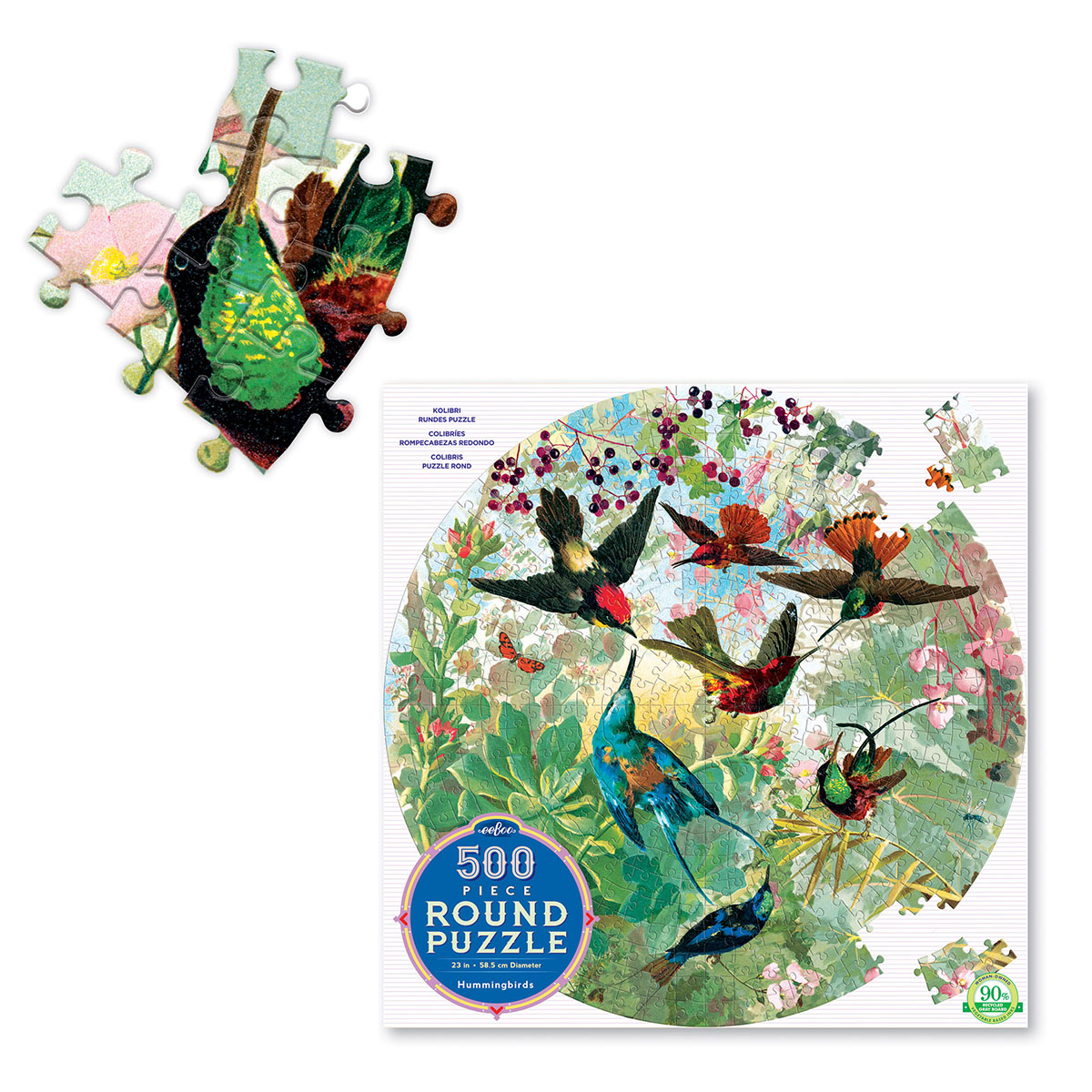 Hummingbirds Birds Shaped Puzzle